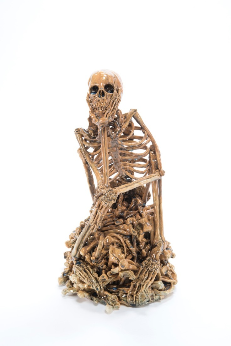 Carolein Smit, Skeleton, Ceramic sculpture, 2016 45cm W x 45cm D x 67cm H