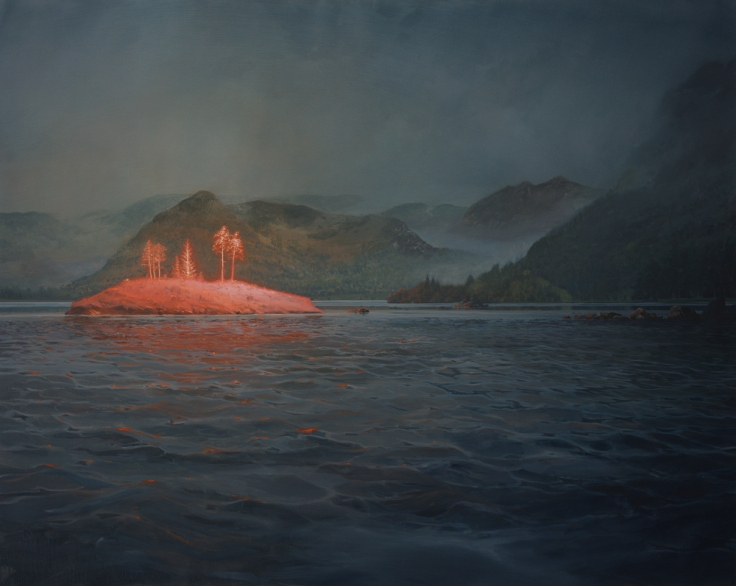Mackie, The Electric Isle of Loch Carron_150x120cm