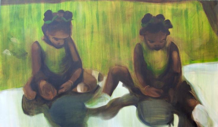 Sikelela Owen, Green girls, James Freeman Gallery